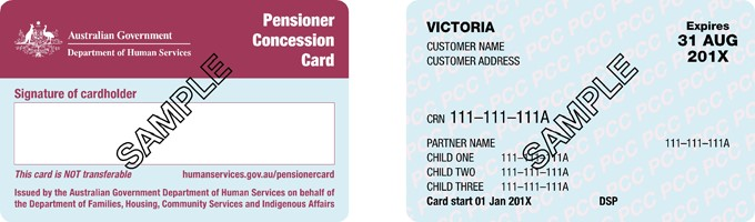 Pensioner Concession Card